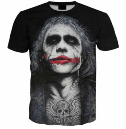 $enCountryForm.capitalKeyWord UK - Wholesale-Newest Fashion Mens Womens Summer Style Red lipstick Crazy Joker Funny 3D Print Casual T-Shirt DXR00120