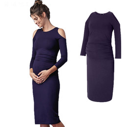 770207f112a Maternity Women Dresses Blue Pregnant Dress Noble Prom Strapless Knee-Length  Party Evening Vestidos Large Size Women Business Clothes