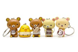$enCountryForm.capitalKeyWord NZ - Kawaii Squishy Rilakkuma Key Chain Bear Making Food Version Synthetic Resin 5 Pieces for office home desk toys Car Ornamants