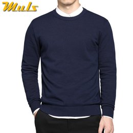 Best Brand Pullovers NZ - Pure cotton sweaters men best style O neck mens sweaters MULS brand jersey pullover male autumn winter 4XL knitwear dress MS891 L18100803