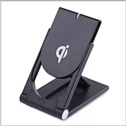 Charger Samsung Quality NZ - High Quality Universal Qi Wireless Charger adjustable Folding Holder Stand Dock For Samsung S7 S8 Edge Plus Note 8 Iphone 8 X MQ100