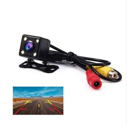 Camera Wide Backup Australia - Hot 4 Led Lamps Reverse Camera Night Vision HD Car Rear View Camera Wide View Angle Reverse Parking Assistance Backup Cameras