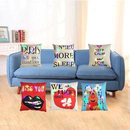 heart mouth 2018 - LED Light Pillows Cushion Cover Flashing Pillow Letters Elk heart mouth print Light Up Pillowcase Car Home Sofa Decorati