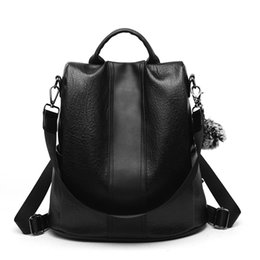 Leather coLLege bags for girL online shopping - 2018 Retro Women Leather  Backpack College Preppy School c9c3e506d039b