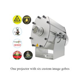 $enCountryForm.capitalKeyWord NZ - Waterproof 6-image 80W LED Gobo Projector Aluminum Alloy 90V to 240V 10000lm Six Images Change in Turn Silver LED Projector Light with gobos