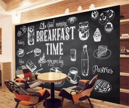 Discount custom graffiti - Custom Size Photo Black white graffiti 3D mural coffee shop leisure bar living room bedroom sofa television wallpaper mu