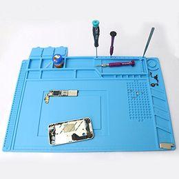 Handy-Uhr-Reparatur-Matte, Wärmedämmung-Silikon-Schrauben-Reparatur-Werkzeug-Auflage-Schreibtisch-Matten-Wartungsplattform für BGA-Lötkolben
