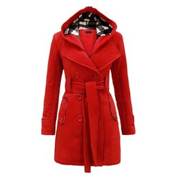Womens Parkas Canada - 2017 New Women Clothing Women Spring Autumn Parka Womens Long Thin Jacket with Hat Detachable Warm Coat