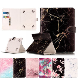 Moto G Leather Case NZ - Marble Leather Flip Universal 7 inch-10 inch Tablet Case For Huawei Lenovo Samsung Asus Acer Tablet Protective Cover