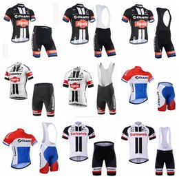 men suits peach NZ - 2018 Men GIANT Summer Short Sleeve Tops Bike Bib Shorts suit Cycling Jersey Bicycle Shirt Wear Clothes Mountain Cycle Clothing Set 90532Y