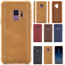 Discount carbon lights - Carbon Fiber Bracket Case for Samsung Galaxy S8 S9   S8 Plus   S9 Plus Cover Car Magnetic Suction Leather Texture Soft C