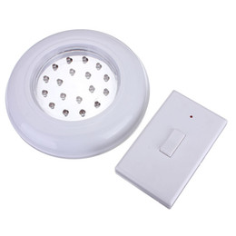 Chinese  White 18 LED Wireless Cordless Ceiling Wall Light Stair Closet Battery Operated Bulb Lamp with Remote Control Switch manufacturers