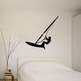 $enCountryForm.capitalKeyWord Australia - Water Wall Decals Decorative Surfing Decal Vinyl Stickers for Nursery Bedroom Bathroom Interior Design Home Decor Dorm Art Murals