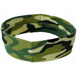 Wholesale 2017 sports yoga hair with camouflage stretch cotton head with men and women running antiperspirant hair bands Sweat zone