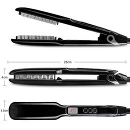 $enCountryForm.capitalKeyWord NZ - Hair Volumizing and Root Lifting Iron Care Styling Tool Ceramic Coating Hair Straightener Brush Revolutionaonary New Kind of Hair Tool Black