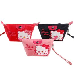 hello cell phones 2018 - New Hello kitty Embroidered Waterproof Dumpling Makeup Bag Washing Storage Bag XW-239 cheap hello cell phones