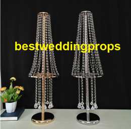 $enCountryForm.capitalKeyWord Australia - Wedding Centerpiece Tall Vase Flowers Stand Acrylic Crystal Road Lead Flower Rack Props For Event Party Decoration best0165