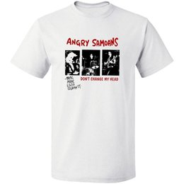 $enCountryForm.capitalKeyWord Australia - Angry Samoans Poster Black T-Shirt Free Shipping 100% Cotton S -3XL Mens T Shirt Summer Hipster Solid Color