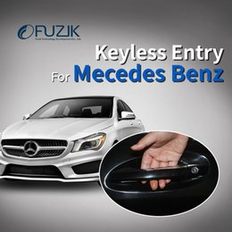 Access Module Australia - Fuzik Smart Key with oem door handle oem keyless entry comfort access module window roll up for Mercedes class c s glc car
