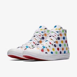 2018 Hot Sale Chucks x Miley Cyrus Pride Casual Shoes Rainbow point canvas  shoes Men Women Fashion Training Sneakers Size 35-44 f8a8af703