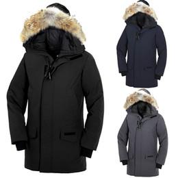 69cf2e45bb04 Langford Parka hommes 2018 Goose hommes manteau de plumes d hiver de style  intemporel veste