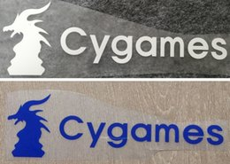 hot stamping logo 2019 - Hot printing Cygames front sponsor logo soccer stickers impressed armlets football badges printed front armbands stampin