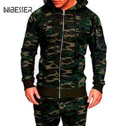 $enCountryForm.capitalKeyWord Canada - NIBESSER Male Camouflage Jacket Suit 2Pc Muscle Men Workout Track Suit Mens Tracksuit Top Pants Set Hoodie Trouser