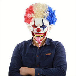 Full Face Clown Mask Australia - Halloween Mask Spiked Hair Clown Full Face Latex Terror Crown masks Horror Mask For Halloween Cosplay Party NightClub