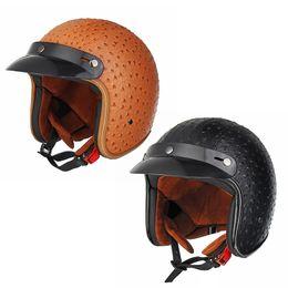Dot Half Helmets Face Australia - 1Pcs Black brown Motorcycle helmet open face helmet DOT approved Irregularity half