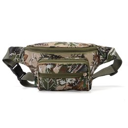 nylon straw UK - Manufacturers direct marketing running belt tactics camouflage waist bag men and women outdoor sports leisure fashion mobile phone backpack