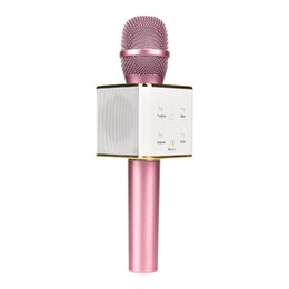 $enCountryForm.capitalKeyWord UK - Q7 Bluetooth Microphone Portable Handheld Wireless KTV Karaoke Player Loudspeaker With MIC Speaker For iPhone 7 Plus Samsung S7 Edge