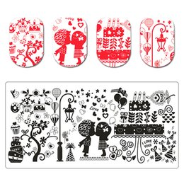 Cartoon Stamping Australia - 1PC Cartoon Stamping For Nails Rectangle Stamping Template Manicure Nail Art Stamp Image Plate Stencil For Nails12cm