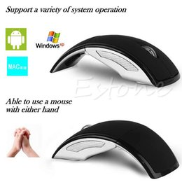 ultrathin laptop UK - Magic_jobs Ultrathin 2.4GHz Foldable Wireless Arc Optical Mouse Mice USB Receiver For Pad PC Laptop Notebook Computer 6 Color