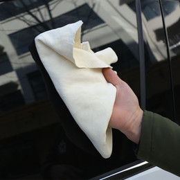Wholesale car Wash drying toWels online shopping - 50 cm car Chamois Leather Cleaning towel Irregular Wash Suede Absorbent Quick Dry Towel Natural Auto Care towel FFA921