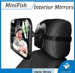 Baby View Mirror Car NZ - Adjustable Car Safety Wide View Back Seat Mirror Baby Rearview Infants Spiegel Rear Ward View Auto Baby Interior Mirrors