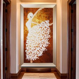 carved figures Australia - New Pattern 5d Diamonds Painted Diamonds Embroidery Hallway Point Stick Drill Cross Embroidery Figure Ballet Dancer Vertical Version Livin