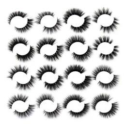 $enCountryForm.capitalKeyWord Australia - Wholesale Factory Supply Mink Lashes 3d mink eyelashes Mix Styles handmade false eyelash black round box retail package