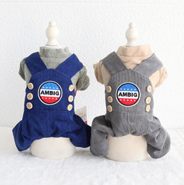 $enCountryForm.capitalKeyWord Australia - Winter Dog Clothing Four Feet Pet Couple Clothes Chiwawa Yorkie Bomei Rompers Jumpsuits 18AW115