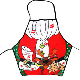 1pcs Navidad Aprons Novelty Christmas Gifts Cooking Kitchen Apron BBQ Christmas Funny Sexy Party Decorations For Home