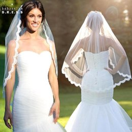$enCountryForm.capitalKeyWord NZ - 2018 Elegant Wedding Veil 1.5 Meters Long Soft Bridal Veils With Comb 1 layers Ivory White Color Bride Wedding Accessories BV003