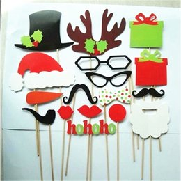 1f218d103d5 Funny kids hats online shopping - 17Pcs Paper Christmas Hat Funny  Interesting Party Photography Props Kids