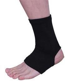 3f7672ee00ec8 1 par de tobillo negro soporte ortopédico deportes pies cuidado de boxeo  tobilleras deportivas muay tailandeses tobillo taekwondo protector de pie