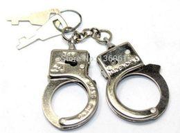 Diy Boys Toys UK - 10 Pair Vintage Silver Couple Toy Thumb Keys Open Handcuffs Keychain Ring For Keys Car DIY Bag Key Chain Handbag Jewelry Gift Accessories