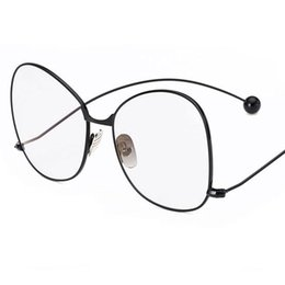 c1fd69c3fa3 New Fashion eyewear Oversized round women glasses cute clear lens glasses  brand vintage Metal big frame eyeglasses