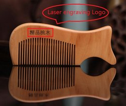 $enCountryForm.capitalKeyWord Australia - Customized Your LOGO Wooden Combs Laser engraving Logo Natural Wood Comb Beard Comb Carve Your Name Men's Grooming Business Promotion Gifts