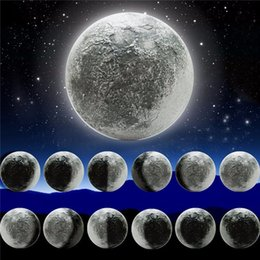 Healing ligHt online shopping - ABS Kinds Phase of the Moon LED Wall Moon Lamp With Remote Control Relaxing Healing Moon Christmas Night Light for Kids