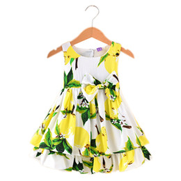 $enCountryForm.capitalKeyWord UK - Hot Summer Girls Dress Fruit Pattern Baby Vestidos Children Sundresses Kids Sleeveless Dresses flower girl dresses for weddings