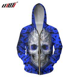 $enCountryForm.capitalKeyWord UK - UJWI 2018 Fashion Tops Men Zipper Hoodies 3d Print Embroidery Skull Sweatshirts Homme Punk Style Hooded Pullovers Jackets 6XL