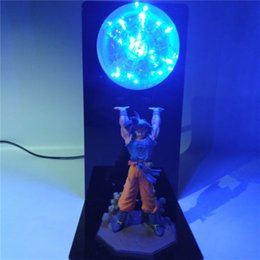 dragon lights Canada - Dragon Ball Z DBZ Son Gokou Bardock Battle Damage Led Night Light Table Lamp Table Lamp LED Bedroom Decorative Lighting Kid Holiday Gifts