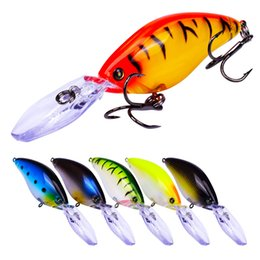 "Discount crankbait bass - Plastic Hard Fishing Lures 11.2cm-4.41"" 18.5g-0.65oz Crankbait 4# Hook Bass Bait Fishing Tackle Kits Set"